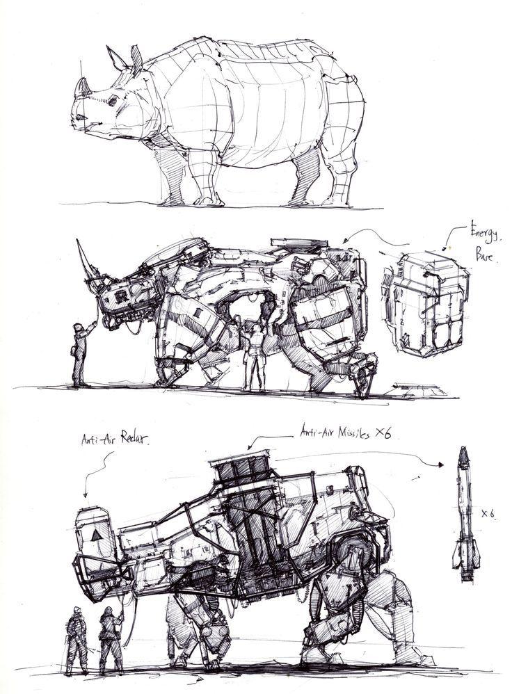 ArtStation – Tierroboter, Longque Chen, #ArtStation #Chen #extinctmammals #Longque #mammalshu…