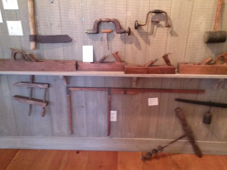 Photo taken in 2014:  Antique tools. Currently reside in the Tool Room at Atwood House Museum, Chatham, MA. #atwoodhouse, #chathamhistoricalsociety, #chatham, #capecod, #toolroom, #tool, #antique