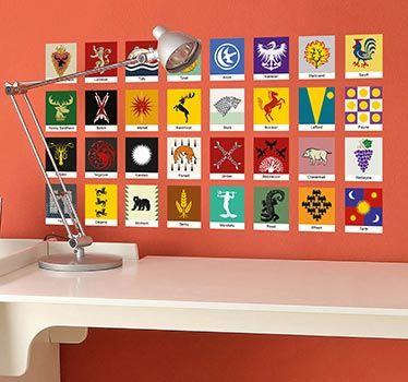 Stickers familias juego de tronos