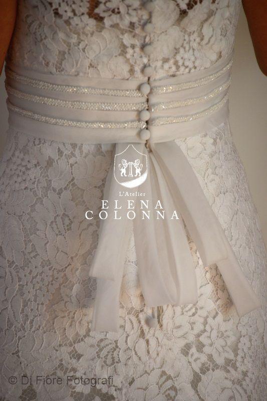 abito da sposa pizzo di lino