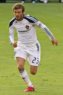 Beckham in 2010, playing for Los Angeles Galaxy