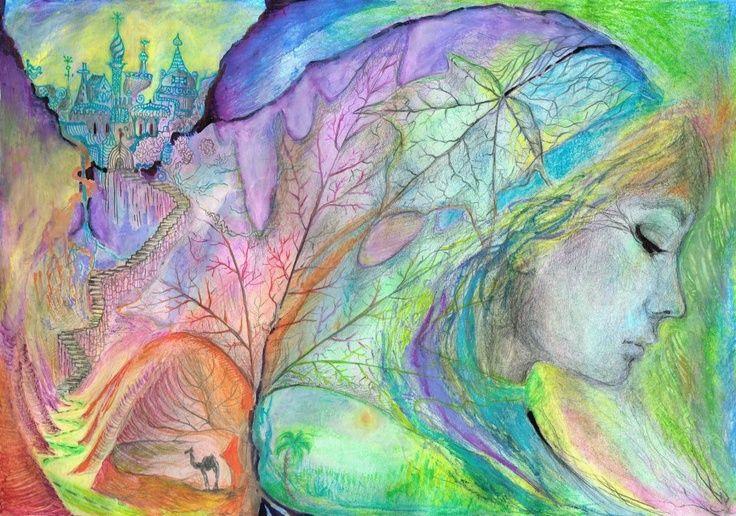 Zsófia Sárhidai: Pastel + watercolour + pencil drawing