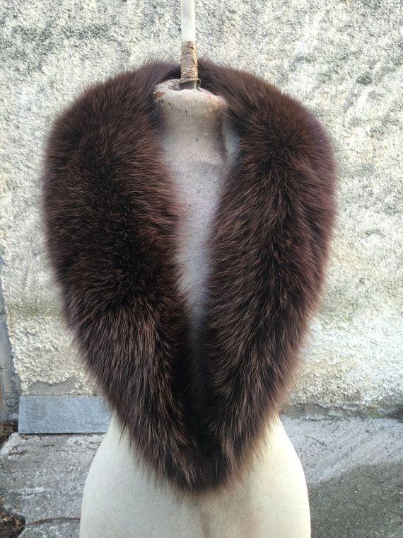 Real large fox fur collar scarfs fur wrap fur by FilimegasFurs