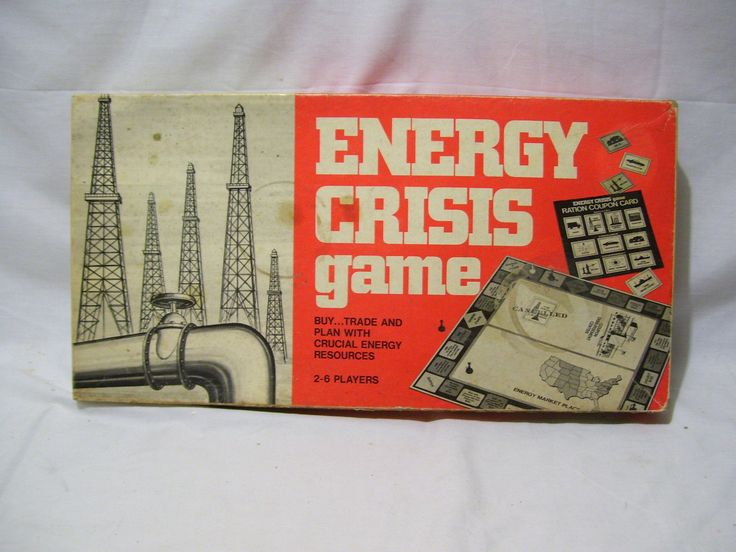 Energy Crisis Board Game by Itemation, from 1973. This game is 100% complete, even the loose money has been counted and is there. | eBay!