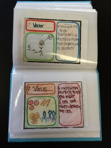 A Vocabulary Photo Album.  Cool idea for any subject... This example is science.  Thanks for sharing!!