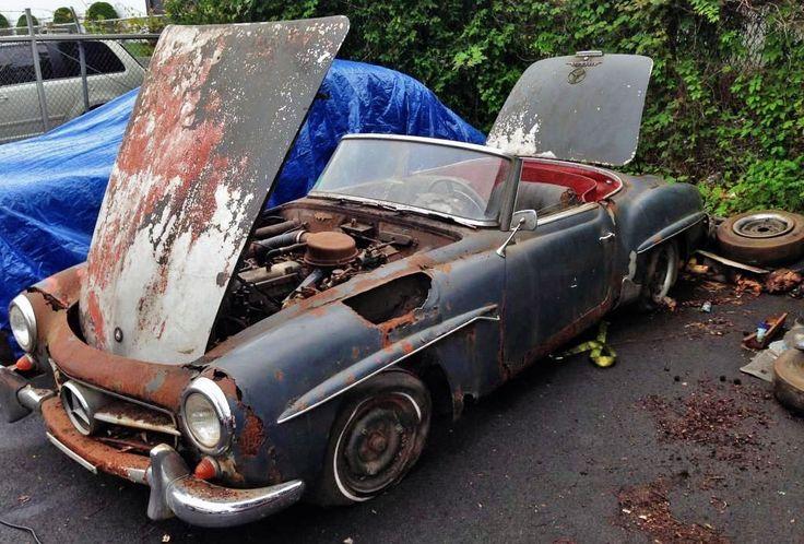 Rusty Benz: 1960 Mercedes 190SL - http://barnfinds.com/rusty-benz-1960-mercedes-190sl/
