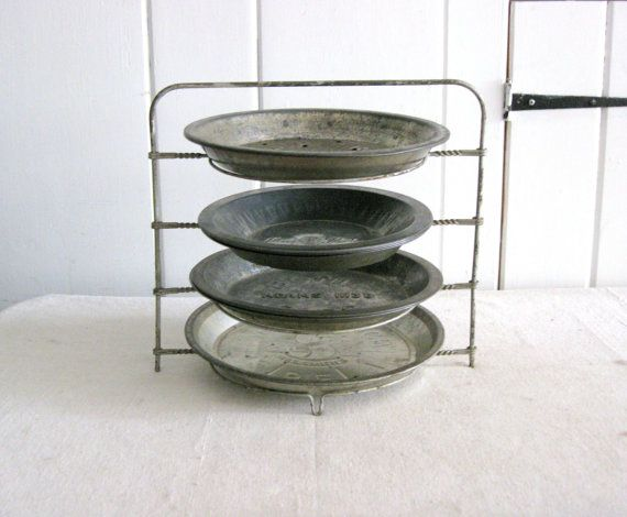 Vintage Pie Cooling Rack Pie Plate Display Metal Pie Holder Great Display for & 53 best I collect old Pie Tins images on Pinterest | Advertising ...
