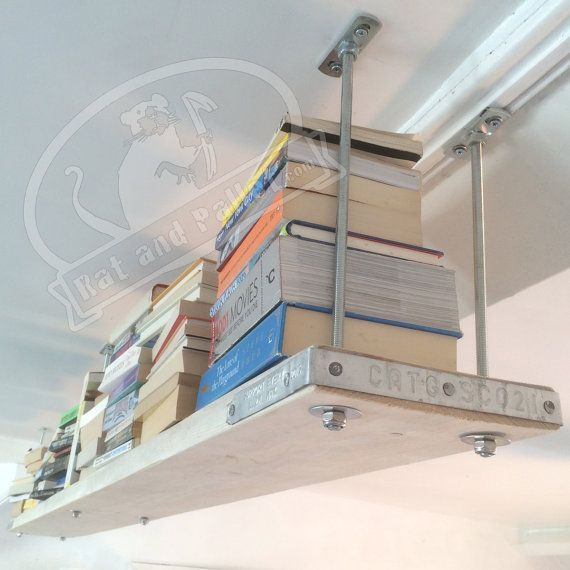 Ceiling Mounted Shelves Made to Measure. Suspended by RatAndPallet