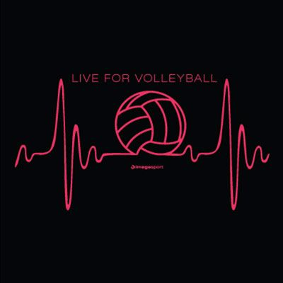 volleyball heartbeat design black volleyball t shirt
