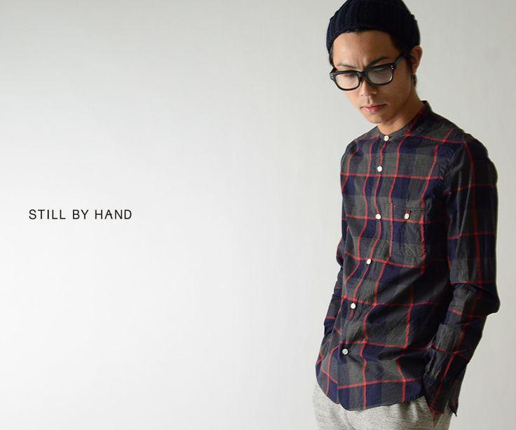 【楽天市場】【アウトレット】STILL BY HAND スティルバイハンド チェック バンドカラーシャツ・sh0943(全2色)(S・M・L)【返品交換不可】【セール】:Crouka LR(クローカ エルアール)