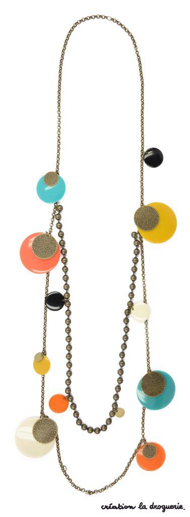 On adore ce sautoir coloré qui ne reste pas inaperçu ! #ladroguerie #collier