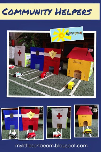 My Little Sonbeam: November Week 1 - community helpers and transportation: police car (police officer), fire engine (firefighter), ambulance (doctor) and  school bus (teacher). Role playing and pretend play. Mylittlesonbeam.blogspot.com {homeschool preschool learning activities}