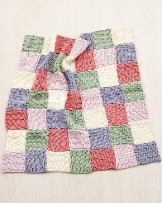 Martha Stewart Crafts Lion Brand® Yarn Extra Soft Wool Blend Loom-Knit Patchwork Garter Baby Throw | Step-by-Step | DIY Craft How To's and Instructions| Martha Stewart