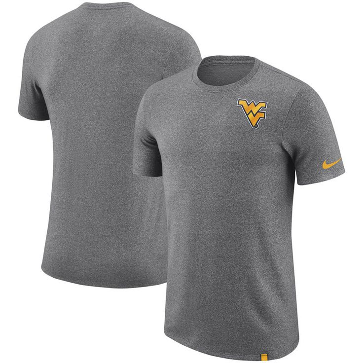 West Virginia Mountaineers Nike Marled Patch Performance T-Shirt - Charcoal