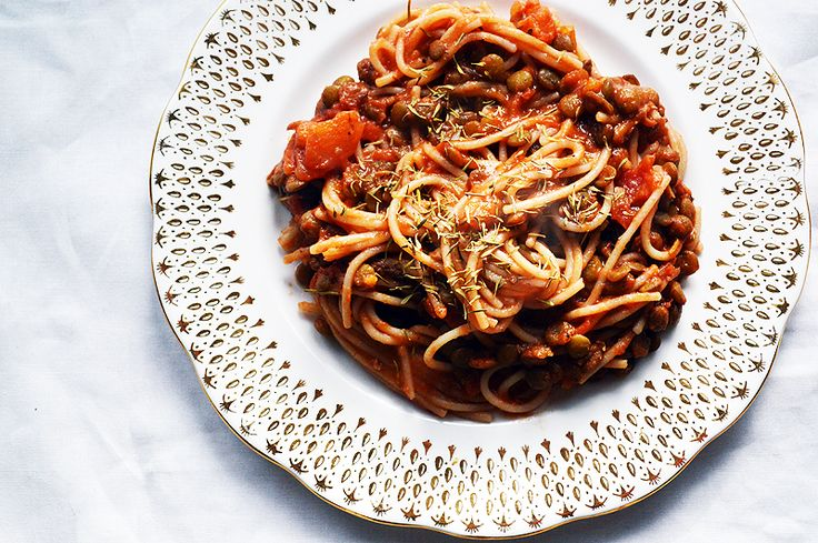 Lentil Bolognese (Inspired by Deliciously Ella) vegan, gluten free, dairy free - The Passion Junkie