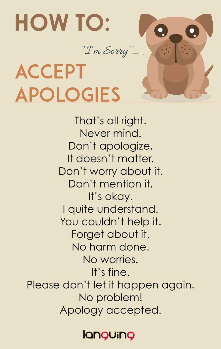 How to: Accept Apologies                                                                                                                                                                                 Mais