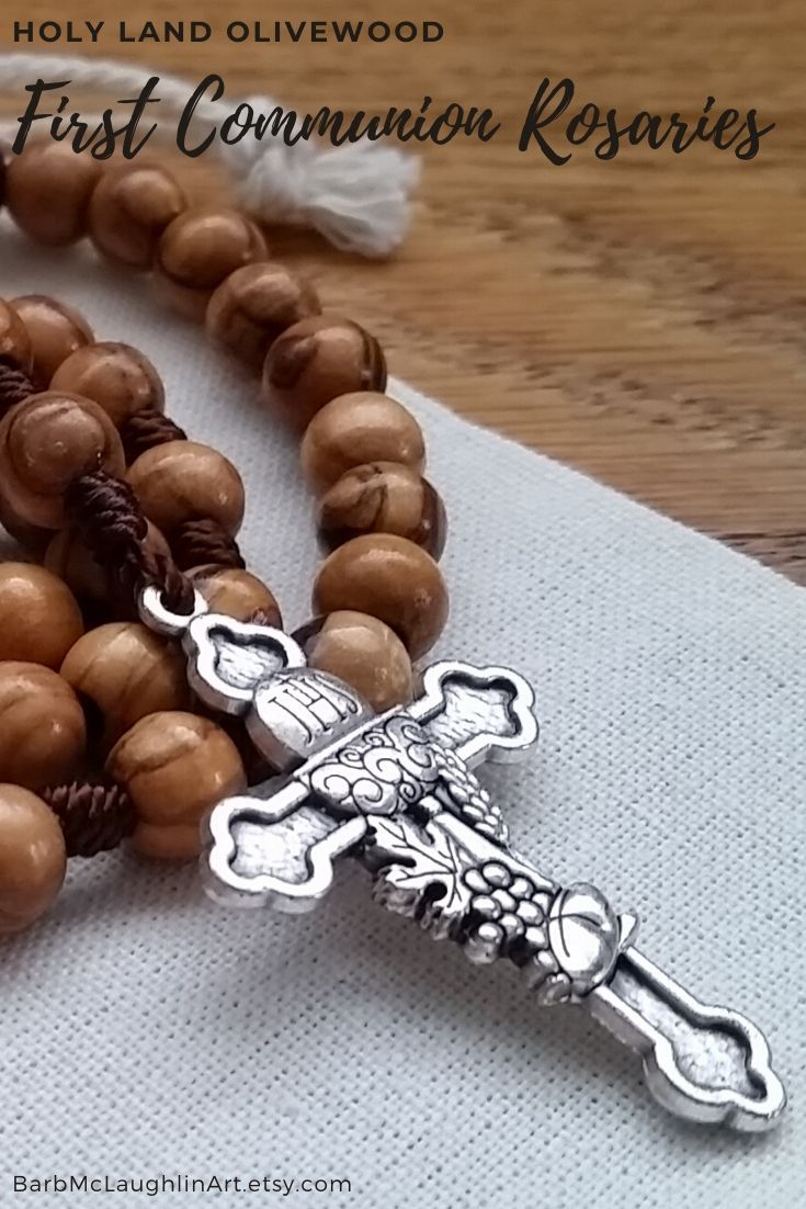First communion catholic gift for girl or boy wooden