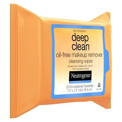 Neutrogena Deep Clean Oil-Free Makeup Remover Cleansing Face Wipes - 25ct