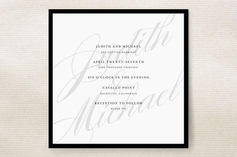 Framed Wedding Invitations by minted.com