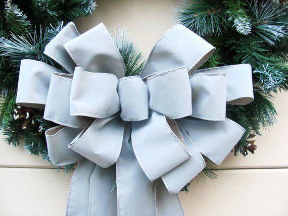 Grey Velvet Bow Christmas Wreath Bow Gray Wreath Bows Christmas Bows Christmas Tree Bows Christma Christmas Wreath Bows Christmas Tree Bows Christmas Bows