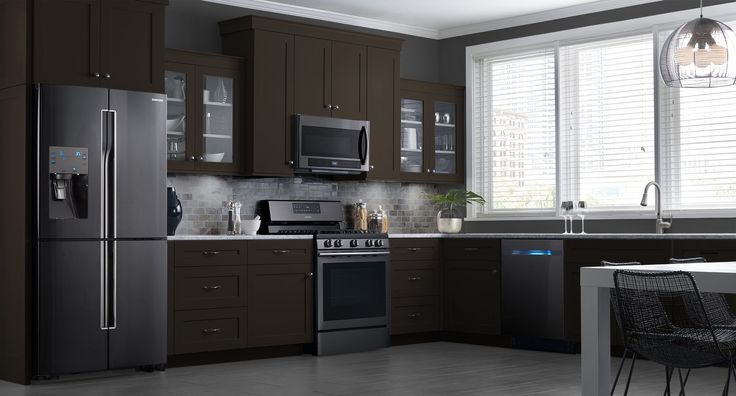 These Samsung Black Stainless Steel Appliances Look Beautiful In My Dream Kitchen Get Inspired