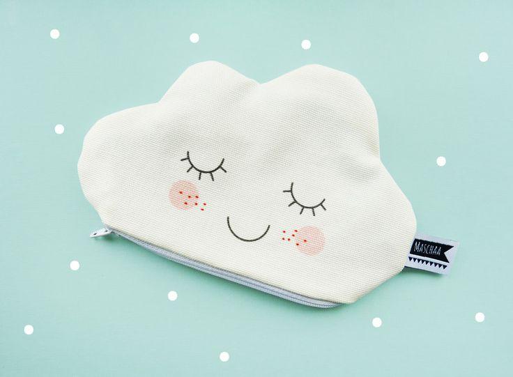 Wolkentäschchen, Etui, Wolke von MASCHAA auf DaWanda.com
