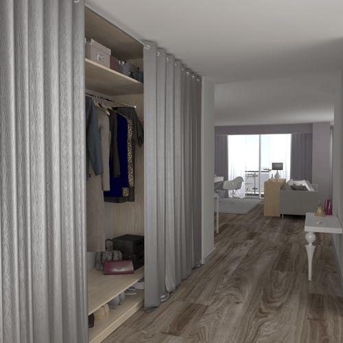 rideau coulissant pour placard cheap dlicieux rideau pour placard cuisine with rideau. Black Bedroom Furniture Sets. Home Design Ideas
