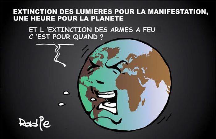 Ghir Hak (21-03-2017) Extinction des lumières pour la manifestation une heure pour la planète | Presse-dz