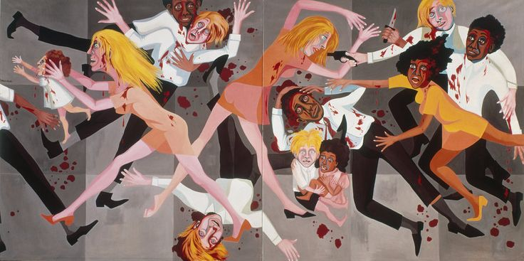 Faith Ringgold, American People Series #20: Die, 1967