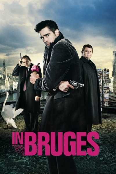 In Bruges (2008). It's gallows humour for Brendan Gleeson and Colin Farrell's existential hitmen in Martin McDonagh's cool, whip-smart comedy that never loses sight of the darkness and humanity at its core.