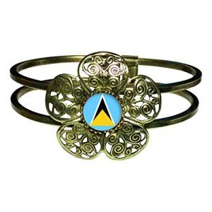 Bronze Retro-Style St.Lucia Bangle. Now on SALE at http://lovemycaribbean.com/product-category/caribbean-shopping-by-island/stlucia/