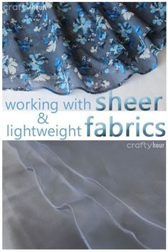 Tips and examples on how to hem sheer and lightweight fabrics such as organza and chiffon.