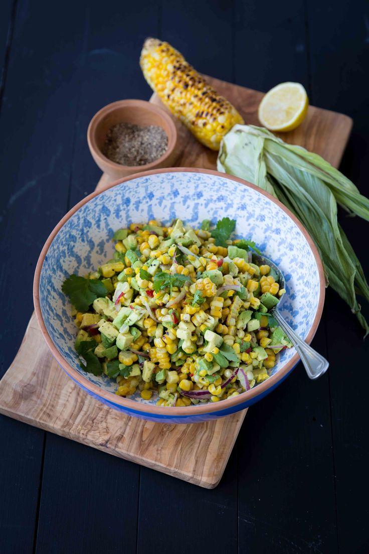 Charred Sweet Corn and Avocado Salad - The Backyard Cook