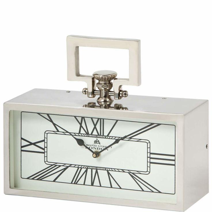 BIG TIME Stolní hodiny s bílým ciferníkem / clock