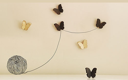 Hatched from Newbies, just for you, these sets of three delightful wooden butterflies will make a great addition to any wall or shelf.