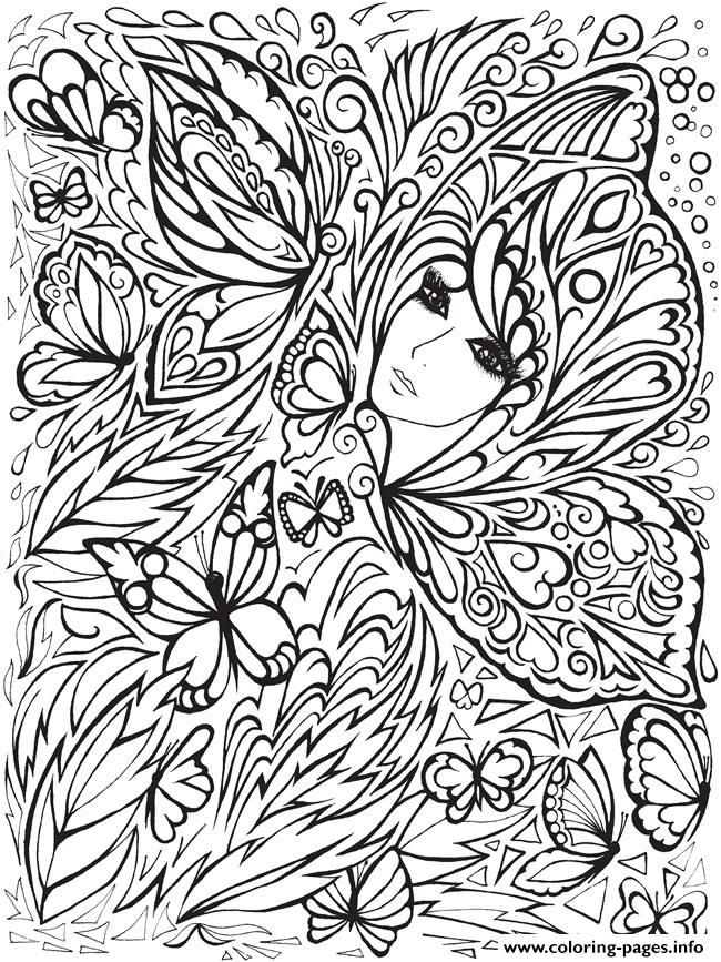 print creative haven fanciful faces adults 5 coloring pages