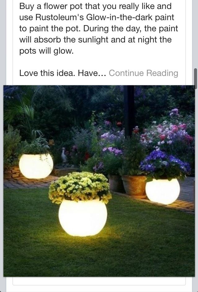 Glow In The Dark Pot Plants! Rustoleum Paint. Trying This Right Now. I Amazing Design