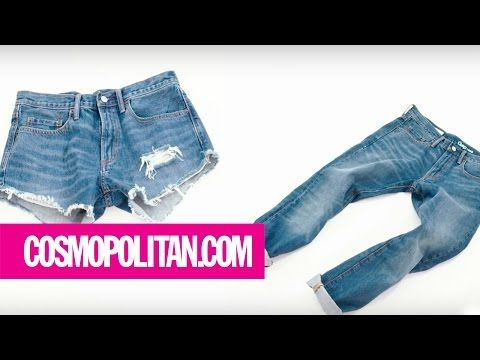 Denim Cutoff Tutorial — How to Turn Jeans Into Cutoff Shorts