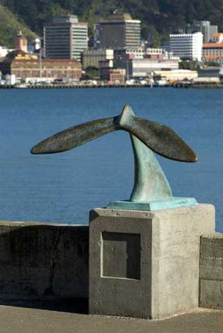 Tail of the Whale by 	Colin Webster-Watson on Oriental Parade.