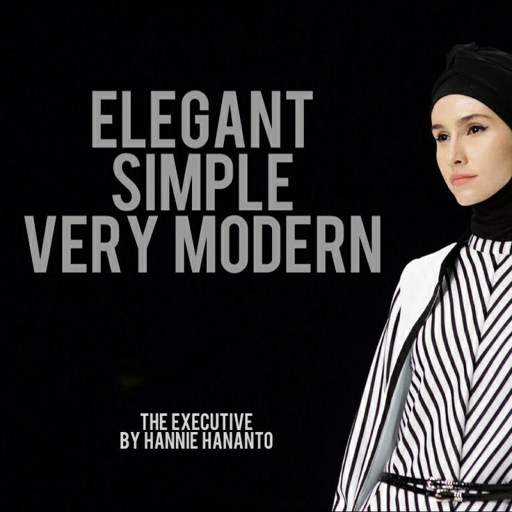 Modest fashion black and white Hannie Hananto