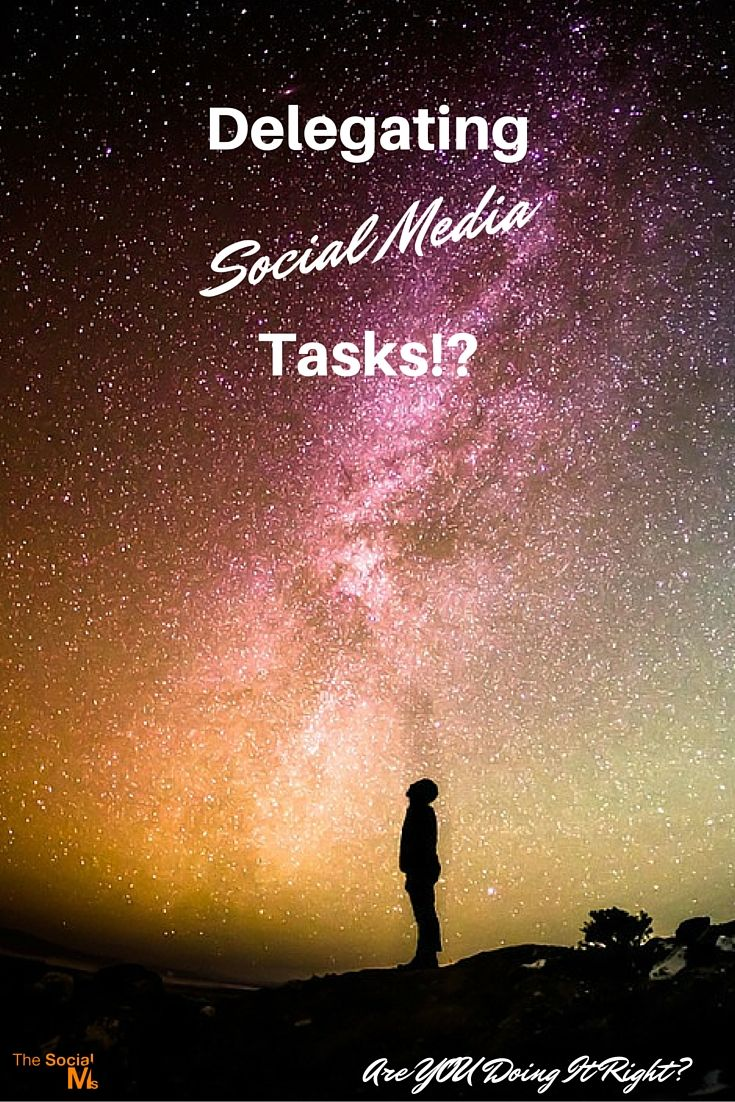 Delegating Social Media - Are You Doing It Right? http://blog.thesocialms.com/delegating-social-media-tasks-are-you-getting-it-right/
