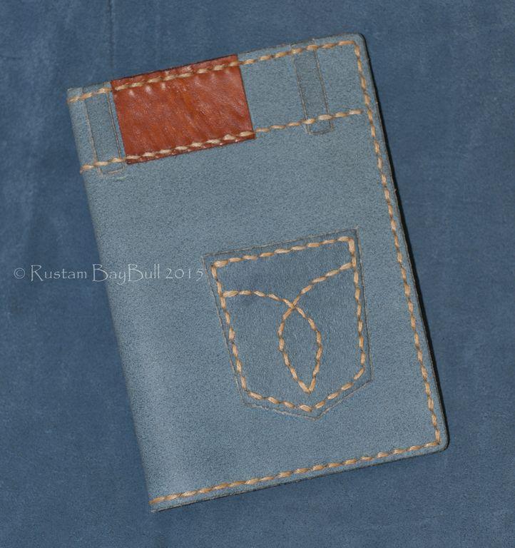 """Обложка для паспорта """"Denim"""" - голубой,обложка на паспорт,обложка для паспорта"""
