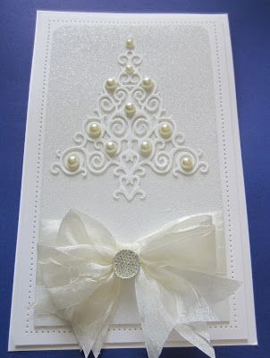 PartiCraft (Participate In Craft): White On White Holiday Tree