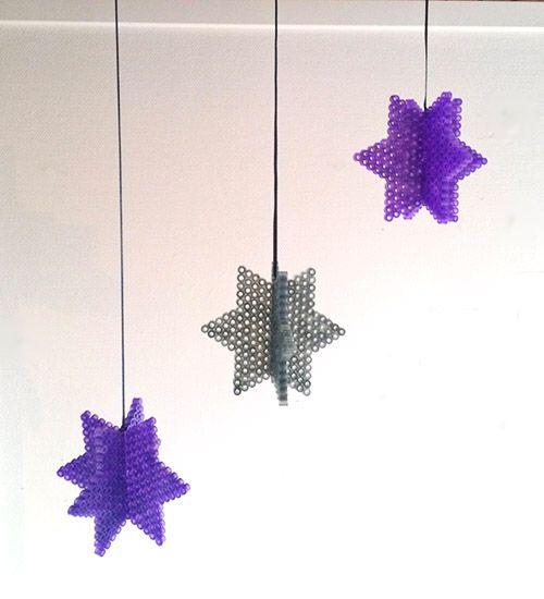 DIY Hanging stars - Christmas hama beads decoration