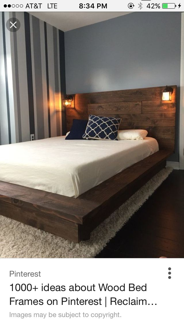 outstanding flat wooden bed frame 13