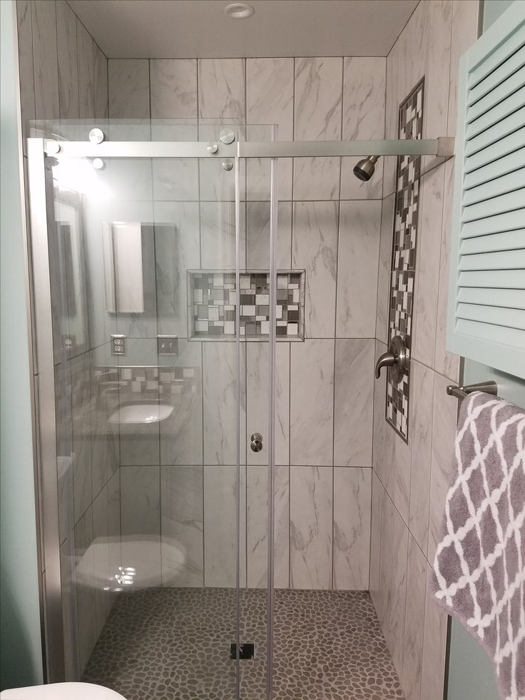 Amazingly Serene Shower Using Island Grey Pebble Tile Flooring.  Https://www. Pebble TilesStone TilesTile IdeasTile FlooringBathroom Ideas Furniture Part 33