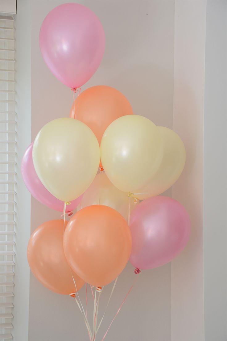 Baby borrel: Ballonnen pastel tinten