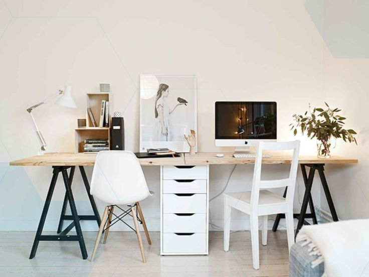Desk Build For Two Persons Home Office Design Modern Home