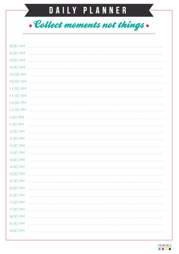 1633 best Planner Addict images on Pinterest A5 binder, At home - free download daily planner