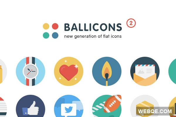 Ballicons 2 - Free passionate set of flat icons (24 icons)